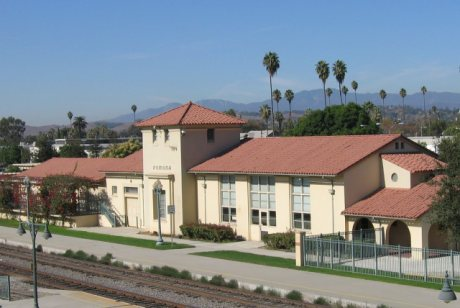 Pomona Train Station on a Clear Sunny Day