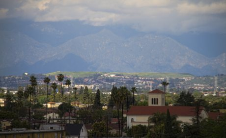 View of Downey and the San Gabriel Mountains