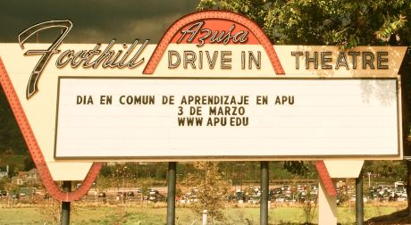 Historic Sign of the Former Drive In