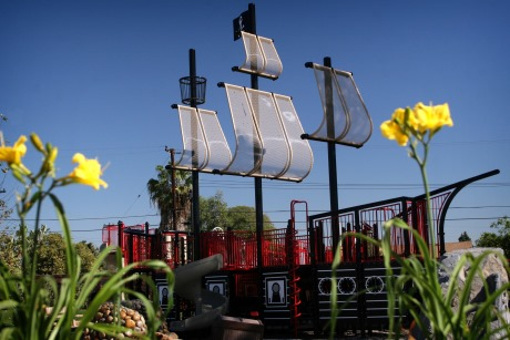 Play on the pirate ship at Harry Dotson Park!