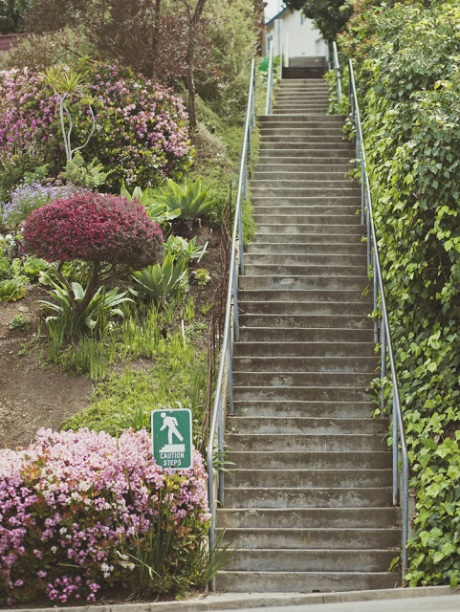 Hidden stairs of La Mesa -- Courtesy of Lisa Kimberly, let's move to the west coast