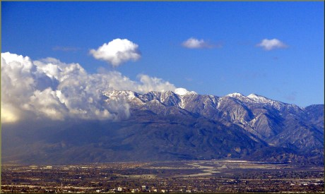 View of Mount Baldy from Redlands - photo credit Don Graham