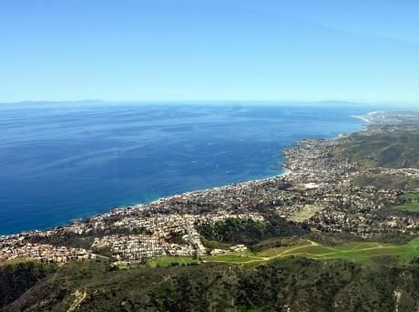 Aerial of Laguna Beach