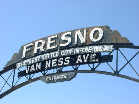Fresno Arch on Van Ness Avenue -- courtesy of Grand Valley Center