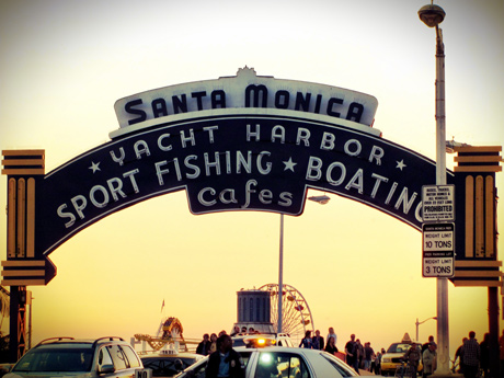 The iconic Santa Monica Pier